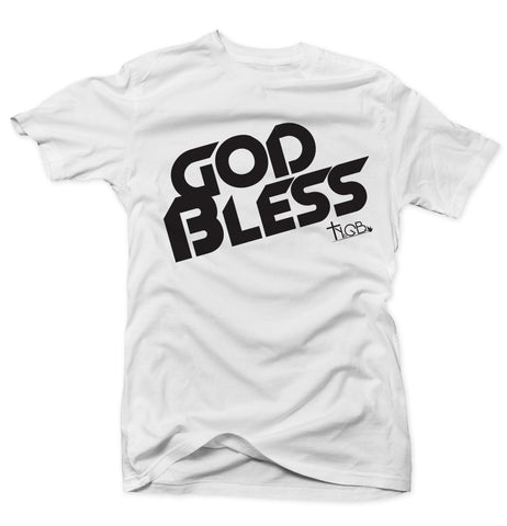 GOD BLESS | WHITE & BLACK TEE