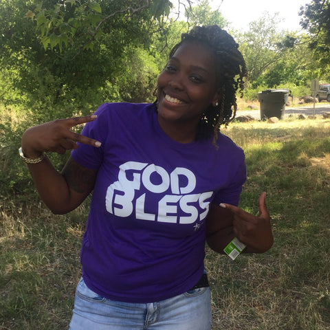 GOD BLESS | PURPLE TEE