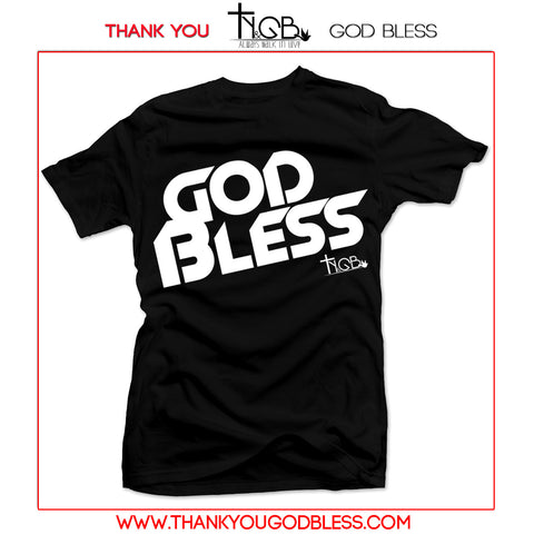 GOD BLESS | BLACK TEE