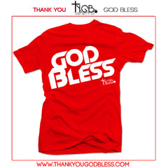 GOD BLESS | RED TEE