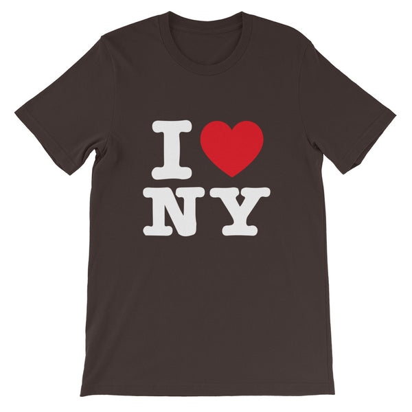 T-shirt I LOVE NY (New York) marron homme / femme