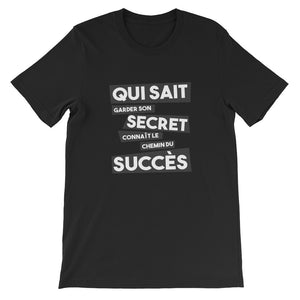 T-shirt citation inspiration - Noir - Qui sait garder son secret