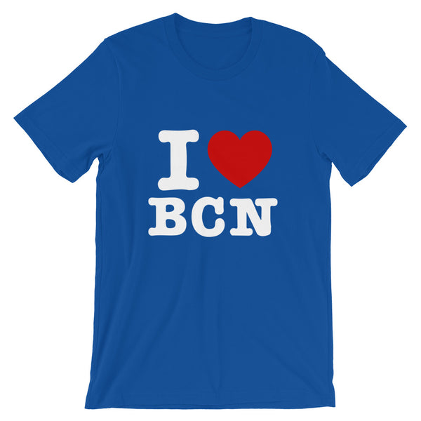 T-shirt I LOVE BARCELONE bleu
