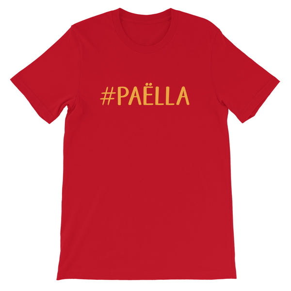 T-shirt hashtag PAËLLA - Tee shirt rouge Homme / Femme