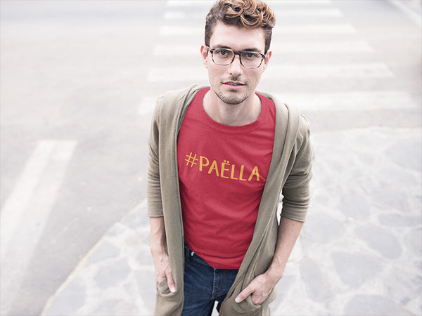 Tee shirt rouge homme #paella