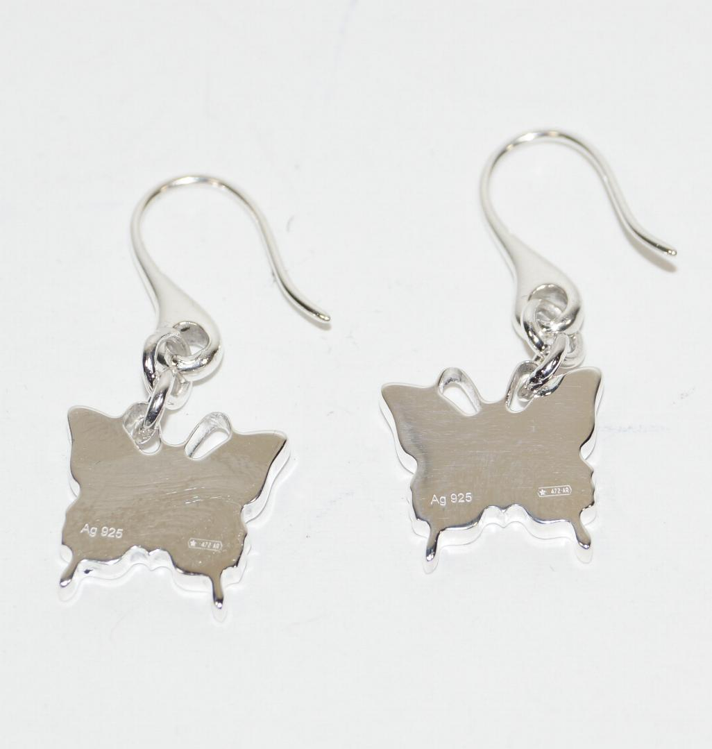 08d5f6dbb5c GUCCI TRADEMARK BUTTERFLY 925 ST SILVER DROP EARRINGS – GlamourStyle