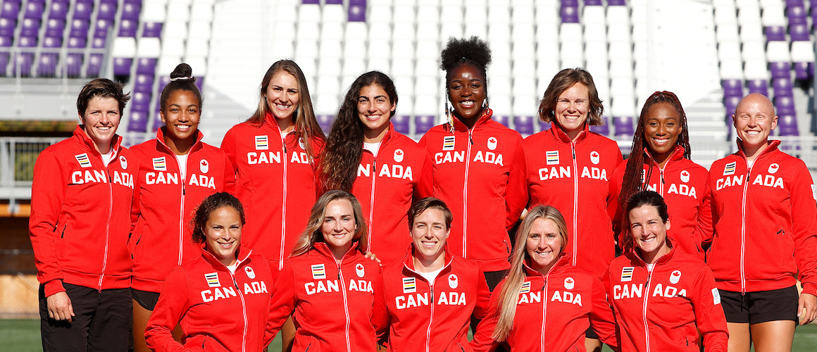 Group Photo of Canadian Women Won 24 Medals at the Tokyo Olympics