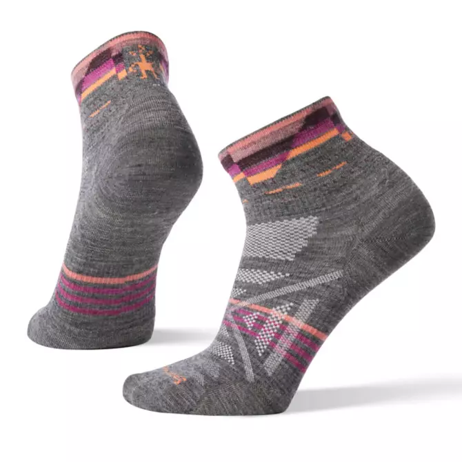 Women's PhD Outdoor Ultra Light Pattern Mini Hiking Socks