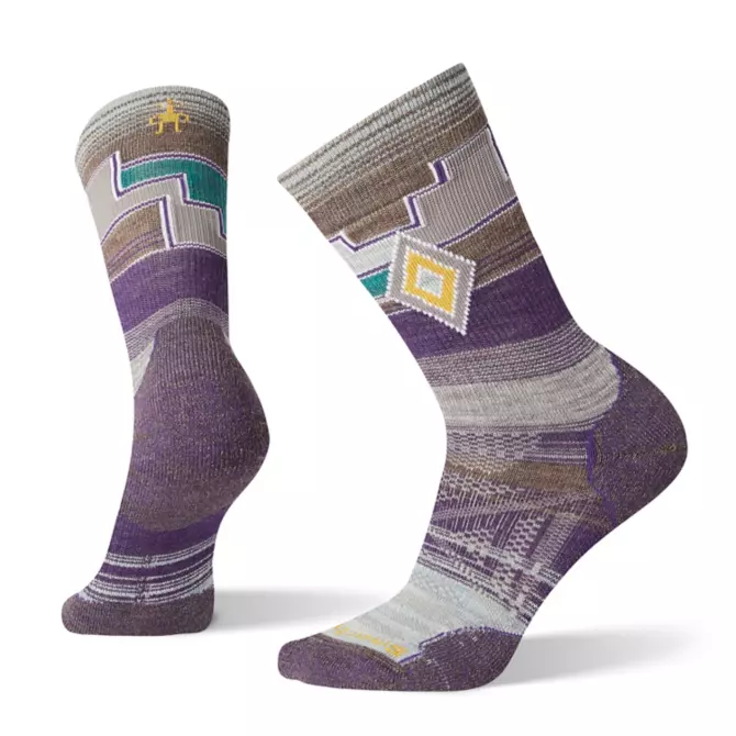 Women's PhD Outdoor Light Pattern Hiking Crew Socks
