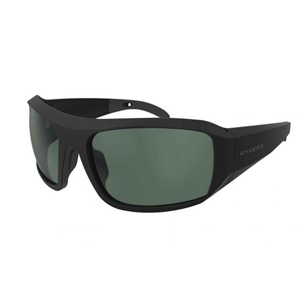POWELL Matte Black / Green Lens AR