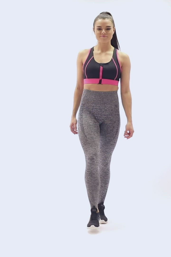 Seamless Compression Leggings V2 Grey - Extra Firm FitPink video