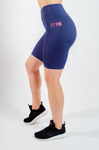 High Waisted Blue Cycle Shorts