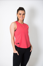Load image into Gallery viewer, Knot Back Cotton Vest in Coral