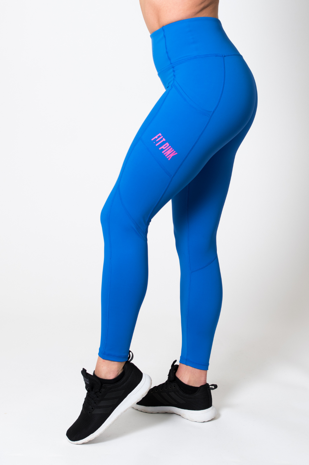 FitPink Elevate Leggings with Pockets in Bright Blue
