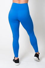 Load image into Gallery viewer, FitPink Elevate Leggings with Pockets in Bright Blue