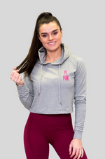Load image into Gallery viewer, Cropped Top Grey FitPink