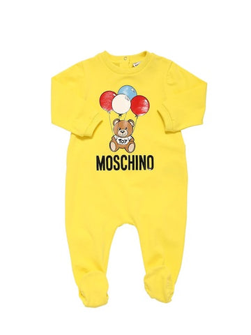 MOSCHINO TOY BEAR WITH BALOONS BABYGROW GIFT BOX