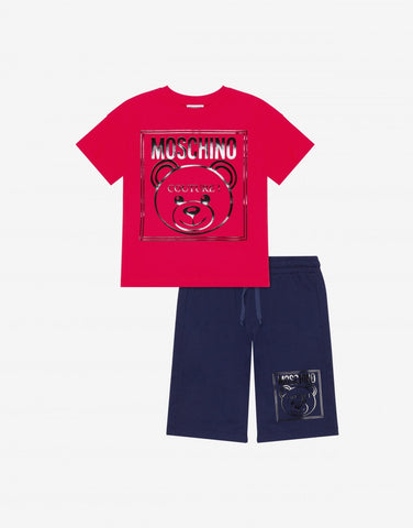 MOSCHINO MINI ME COUTURE SHIRT AND SHORTS SET