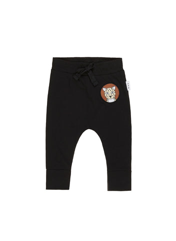 HUXBABY PATCH DROP CROTCH PANT