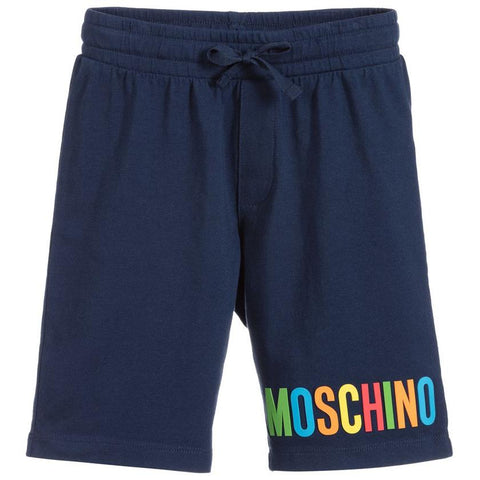 MOSCHINO MINI ME BOYS SAME PRINT ON ALL SHORTS