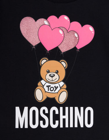 MOSCHIN0 SS DRESS WITH BEAR BALLOON GRAPHIC