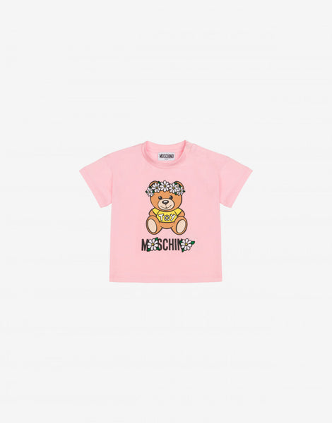 MOSCHINO FLOWER BEAR PRT TEE