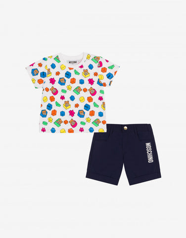 MOSCHINO BABY TEE AND SHORTS SET