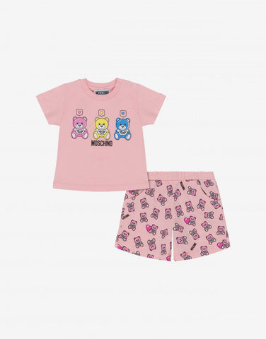 MOSCHINO BABY TEE AND SHORTS