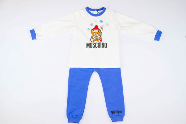 MOSCHINO T-SHIRT AND PANTS SET WITH SKI TOY BEAR