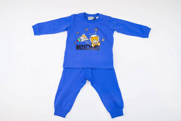 MOSCHINO BABY SHIRT AND PANTS SET WITH SPACE TOY BEAR