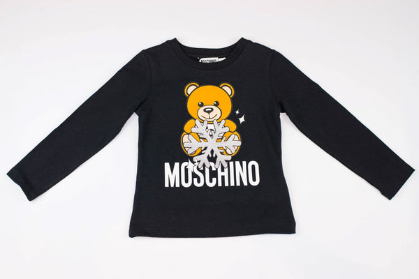 MOSCHINO T-SHIRT WITH SNOWFLAKE TOY BEAR