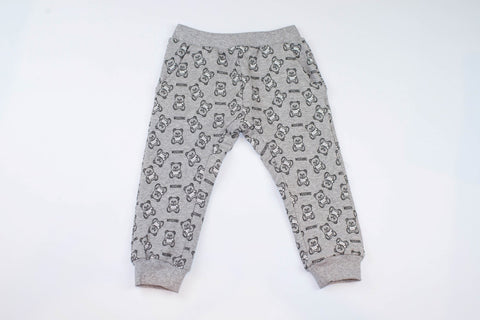 MOSCHINO BABY SWEATPANTS WITH ALLOVER TOY BEAR