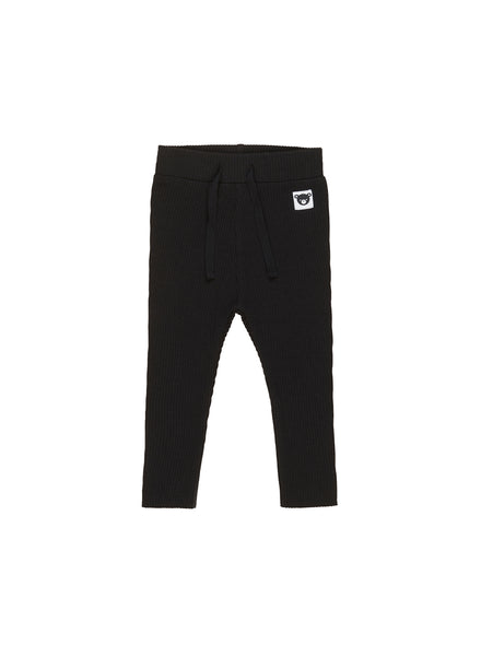 HUXBABY BLACK RIB-LEGGING