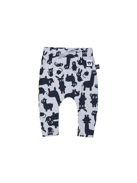 HUXBABY SHADOW ANIMAL DROP CROCH PANT