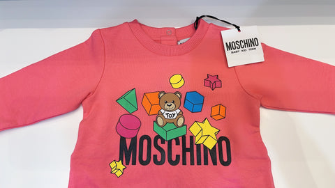 MOSCHINO BABY FOOTIE AND HAT GIFT BOX