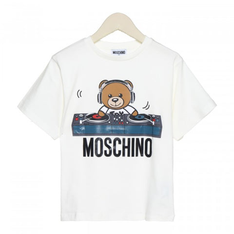 MOSCHINO KID T-SHIRT WITH DJ TOY BEAR