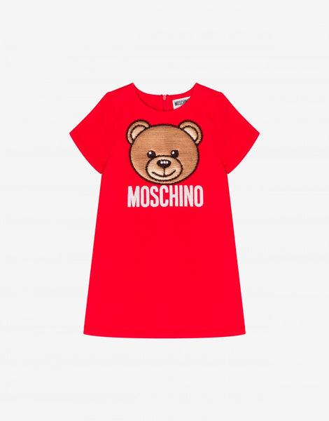 MOSCHINO GIRLS ALLOVER PRINT DRESS
