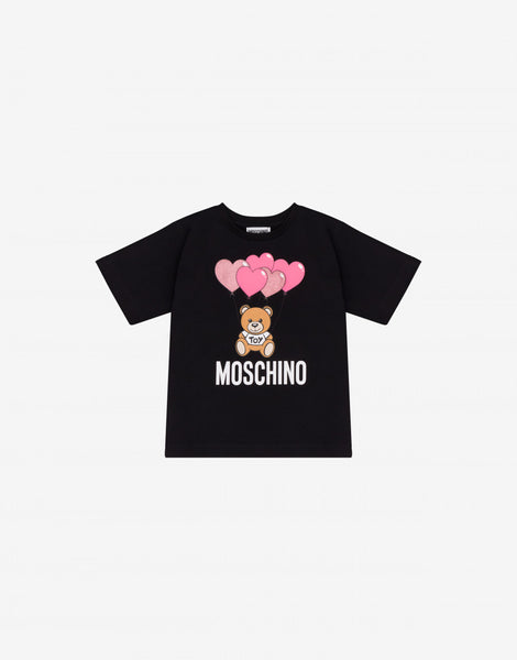 MOSCHINO GIRLS HEART BALOONS MAXI T-SHIRT