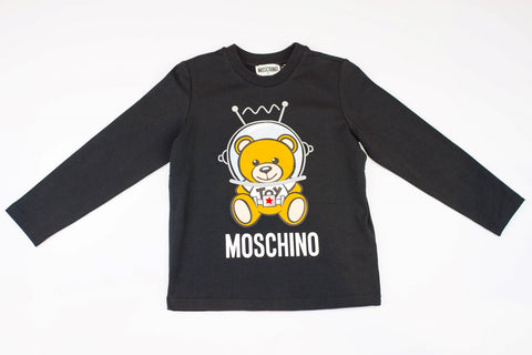 MOSCHINO KIDS LONG SLEEVE T-SHIRT WITH SPACE TOY BEAR