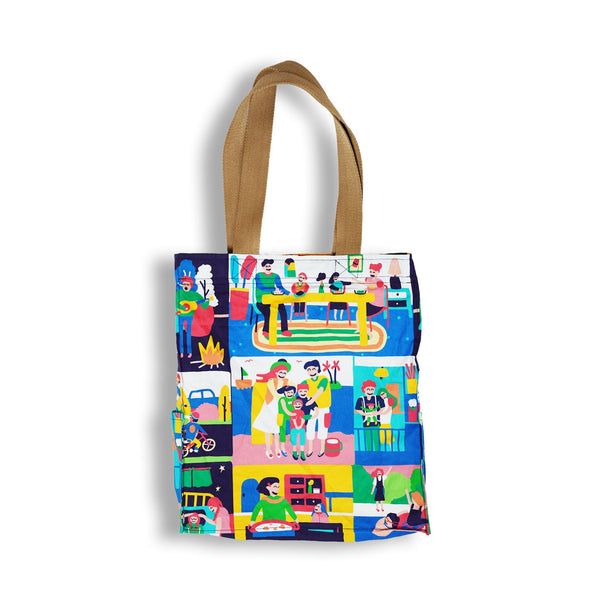 Happy Family Tote Bag - LuckyCla