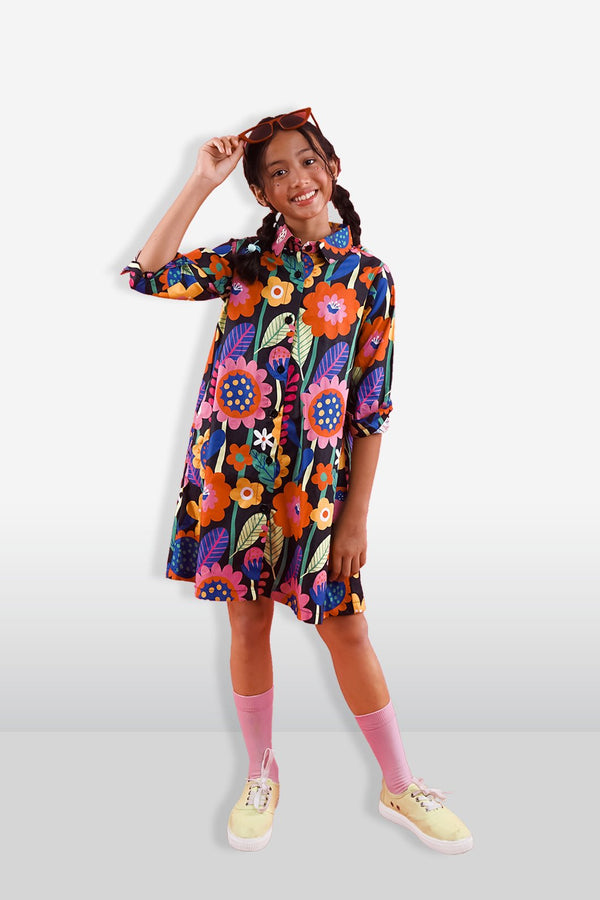 Flow Kids Collar Dress - LuckyCla