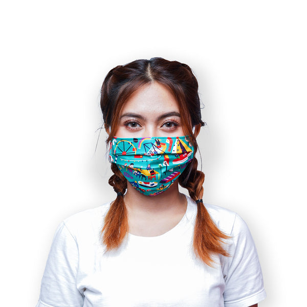 Pasar Malam Cover Mask Water Repellent - LuckyCla