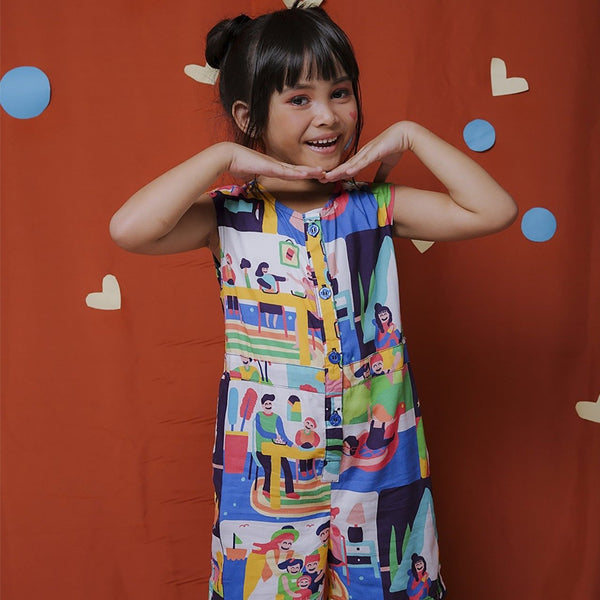Happy Family Kids Short Jumpsuit - LuckyCla