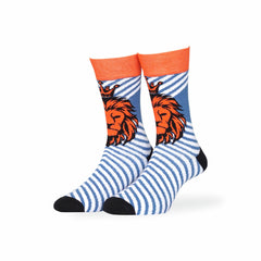 Premium Casual Socks - Casual Lion Stripped Socks