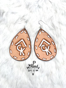Custom brand/initial Earrings