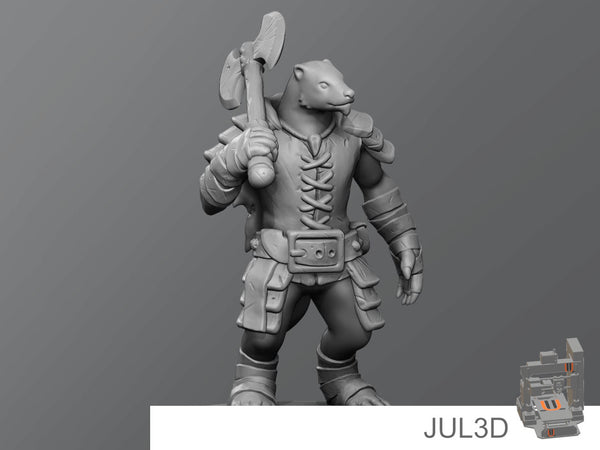 Badger warrior - JUL3D Miniatures
