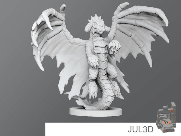 Black dragon wyrmling - JUL3D Miniatures