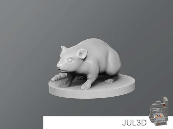 Rat Resin Miniature - JUL3D Miniatures