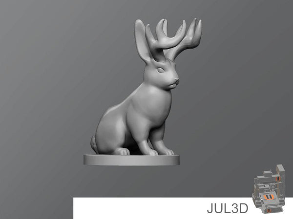 Jackalope Resin Miniature - JUL3D Miniatures