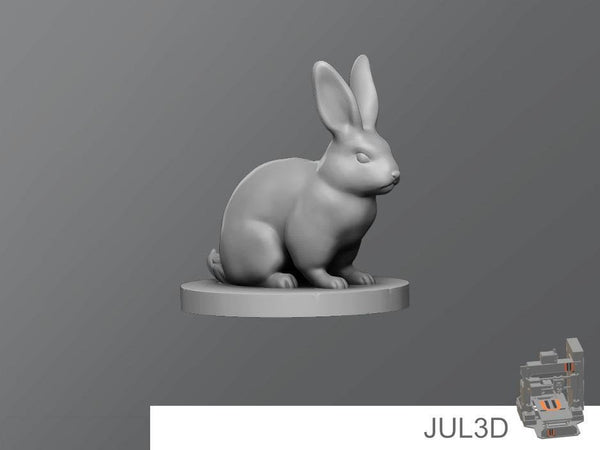 Rabbit Resin Miniature - JUL3D Miniatures